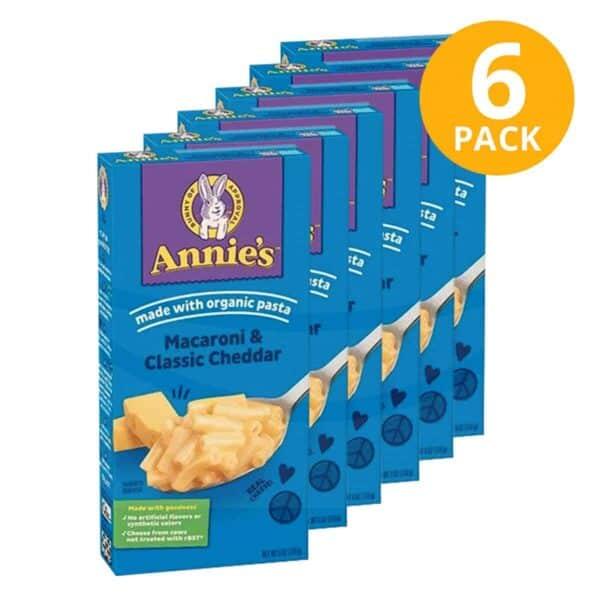 Annie's, Macaroni & Classic Cheese, 6 OZ (Pack de 6)