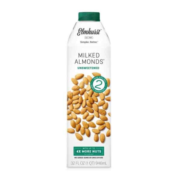 Elmhurst Leche de Almendra (Almonds) Sin Azúcar, 32 OZ