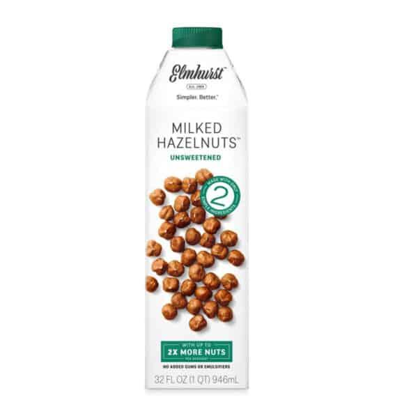 Elmhurst Leche de Avellana (Hazelnuts) Sin Azúcar, 32 OZ