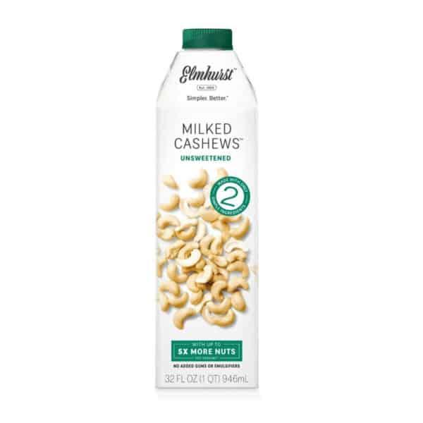 Elmhurst Leche de Cashew Sin Azúcar, 32 OZ
