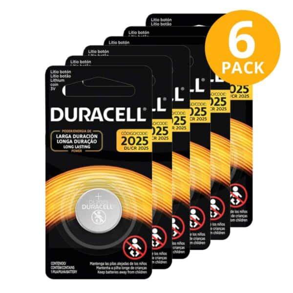 Baterías Duracell 2025 (Pack de 6)