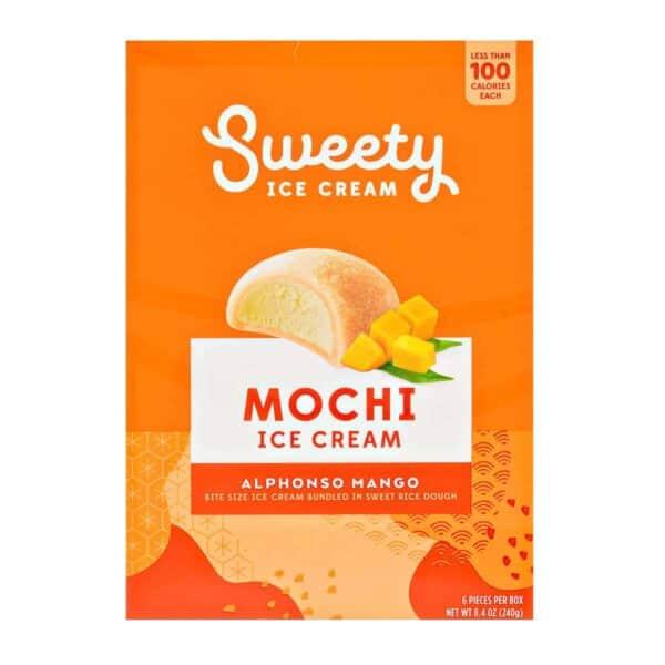 Sweety Ice Cream Mochi, Alphonso Mango, 6 Unidades