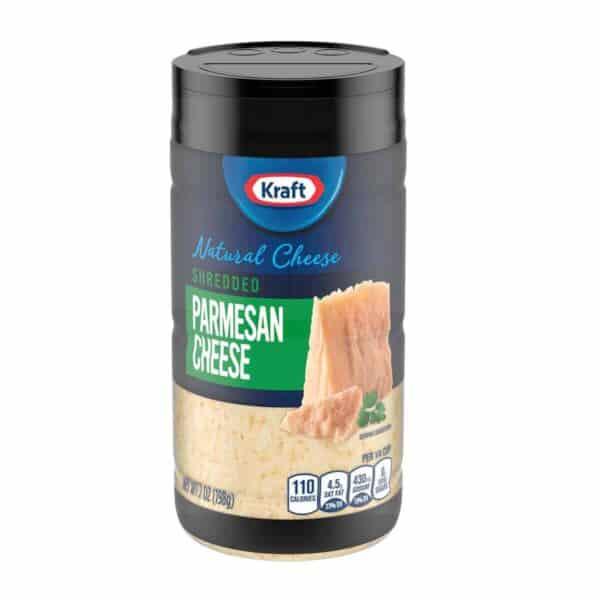 Queso Parmesano Rallado Fresco, Kraft, Shredded Parmesan Cheese, 7 OZ