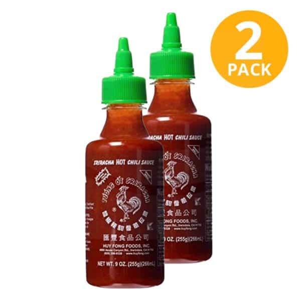 Sriracha Hot Chili Sauce, Huy Fong, 9 OZ (Pack de 2)