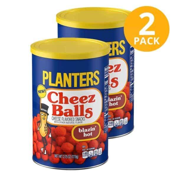Planters Cheez Balls Blazin' Hot, 2.75 OZ (Pack de 2)