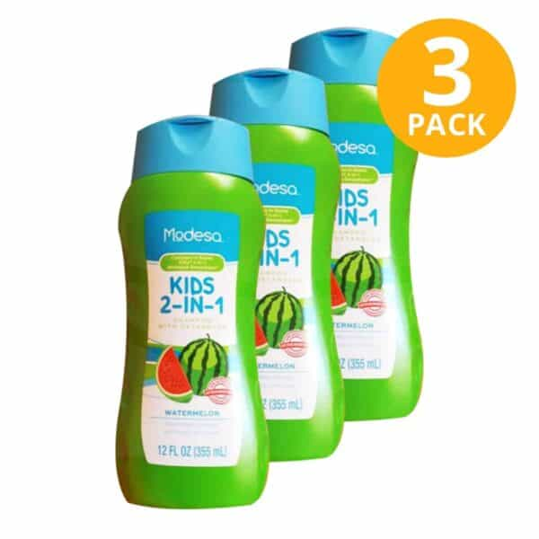 Shampoo Kids 2 in 1 Watermelon, Modesa, 355 ml (Pack de 3)