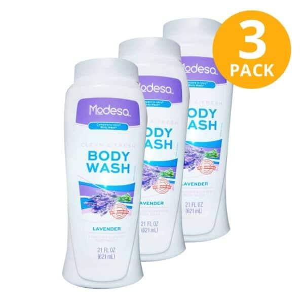 Body Wash Lavender, Modesa, 21 OZ (Pack de 3)