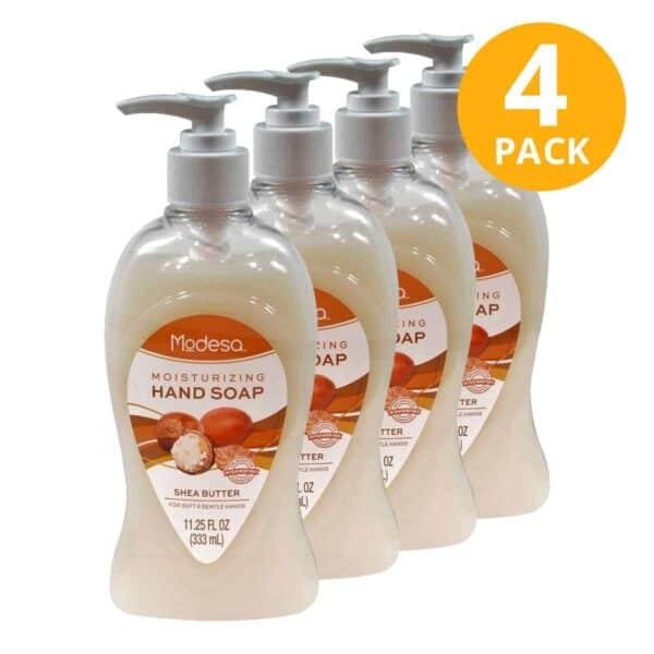 Hand Soap Shea Butter, Jabon Liquído para Manos, Modesa, 11 OZ (Pack de 4)