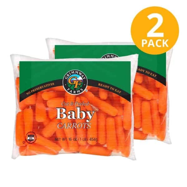 Zanahorias Baby Cut & Peeled, 1 lb (454 gr)