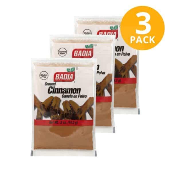 Badia, Canela en Polvo, 14.2 gr (Pack de 3)