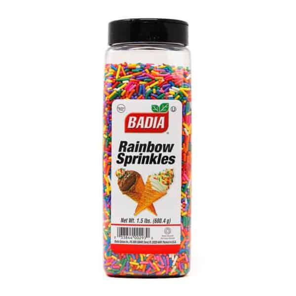 Badia, Rainbow Sprinkles, 680.4 gr