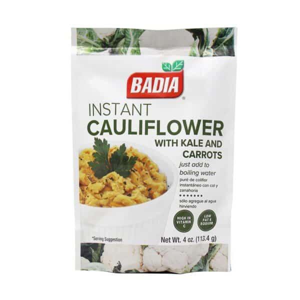 Badia, Puré Instantáneo de Coliflor con Col y Zanahoria, 113.4 gr