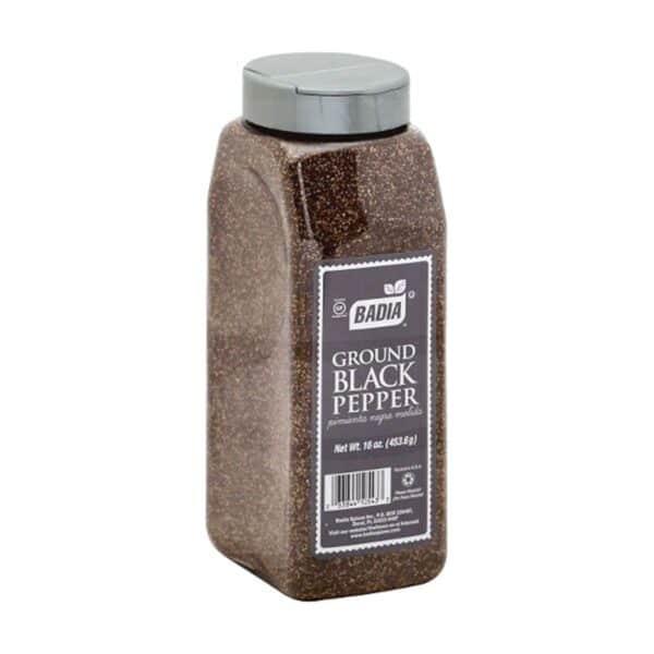 Badia, Pimienta Negra Molida, 453.6 gr