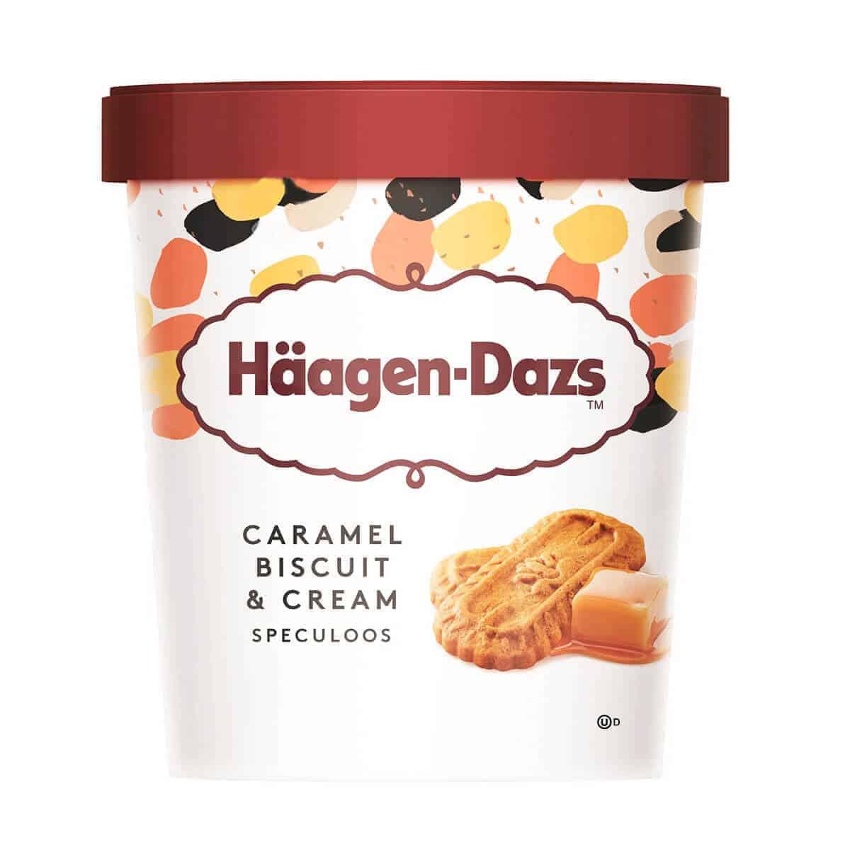 Häagen-Dasz, Caramel Biscuit and Cream, Helado 473 ml