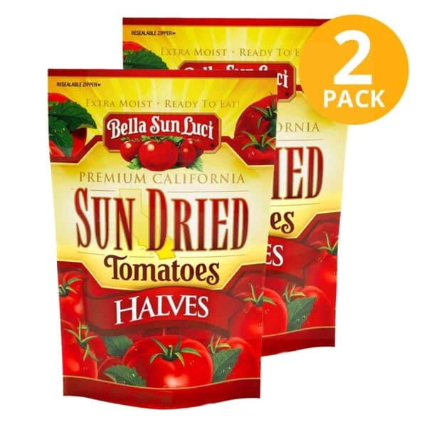 Sun Dried Tomatoes Halves, Bella Sun Luci, 3 OZ (Pack de 2)