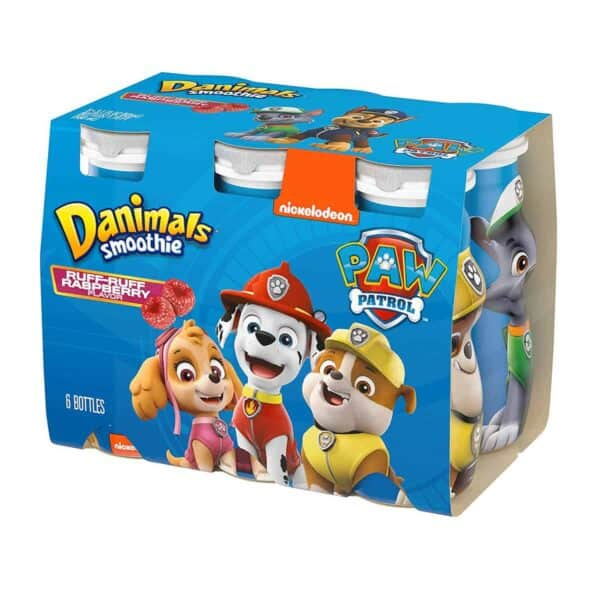 Yogurt Danimals Smoothie, Raspberry, 3.1 OZ (Pack de 6)