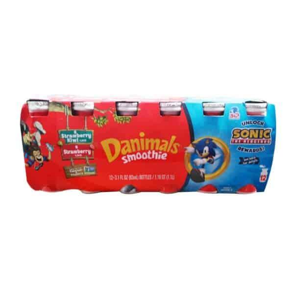 Yogurt Danimals Smoothie, Strawberry-Kiwi and Strawberry, 3.1 OZ (Pack de 12)