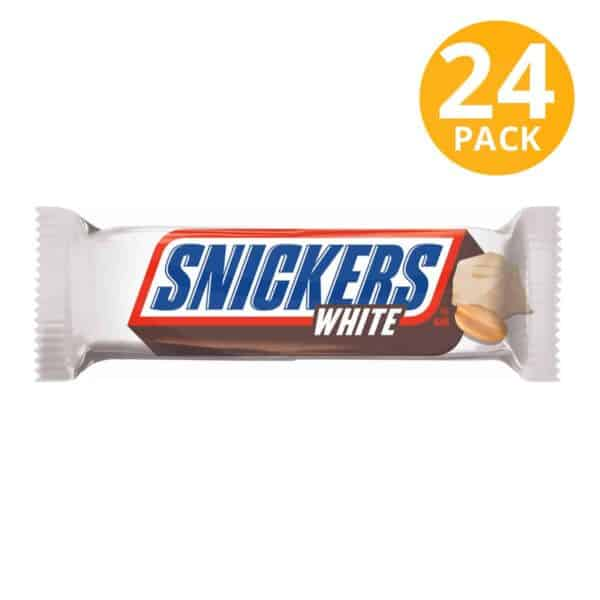 Snickers White Chocolate Single Bar, 1.41 OZ (Pack de 24)
