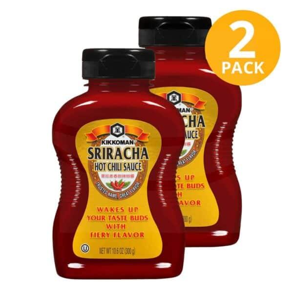 Kikkoman, Sriracha Hot Chili Sauce, 10.6 OZ (Pack de 2)