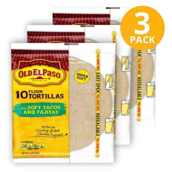 Old El Paso, Flour Tortilla, 30 Unidades (Pack de 3 x 10)