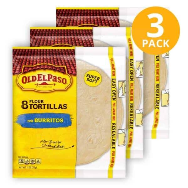 Old El Paso, Flour Tortilla, 24 Unidades (Pack de 3 x 8)