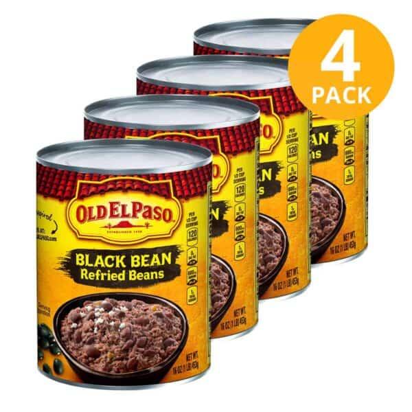 Old El Paso, Black Beans (Frijoles), 16 OZ (Pack de 4)