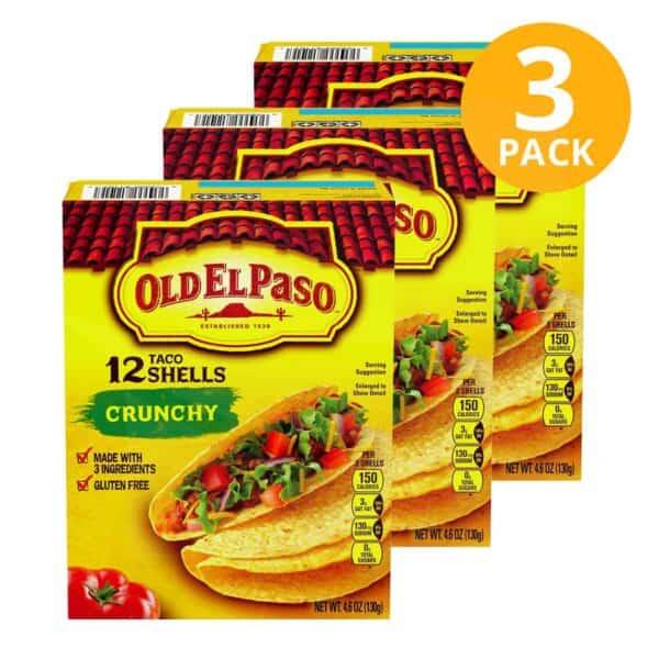Old El Paso, Taco Shells, 36 Unidades (Pack de 3 x 12)