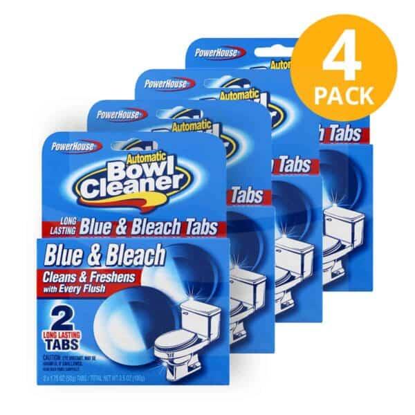 Pastillas Limpiadoras Bowl Cleaner, PowerHouse, 8 Unidades (Pack de 4)