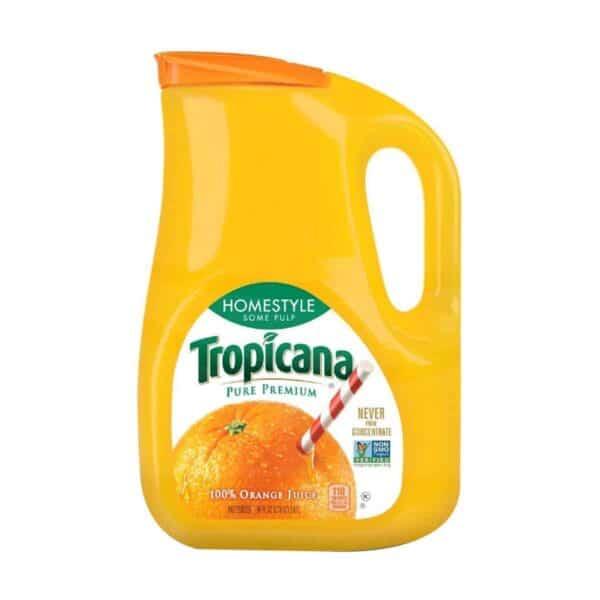 Jugo de Naranja Tropicana Homestyle (Poca Pulpa), 100% Natural, 2.63 L