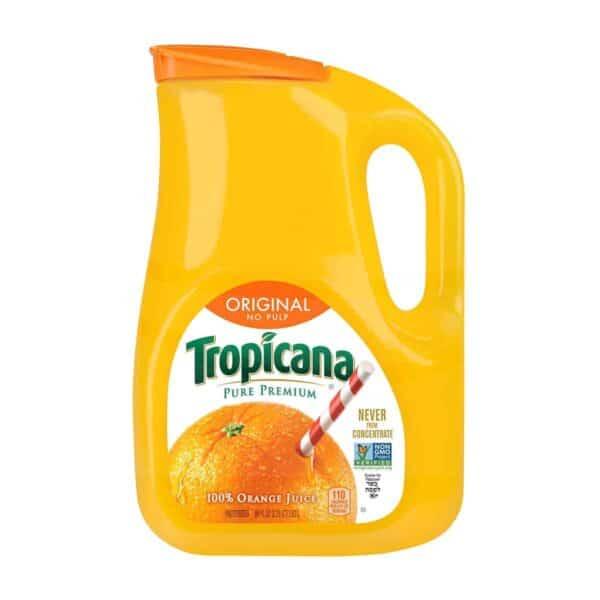 Jugo de Naranja Tropicana Original (Sin Pulpa), 100% Natural, 2.63 L