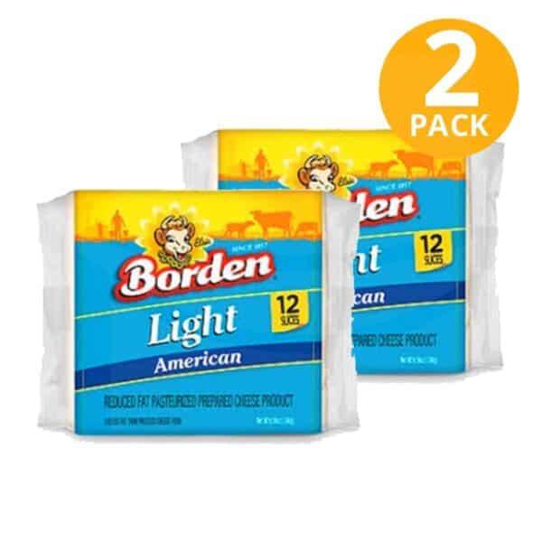 Queso Amarillo Light Rebanado, American Cheese, 12 Slices (Pack de 2)