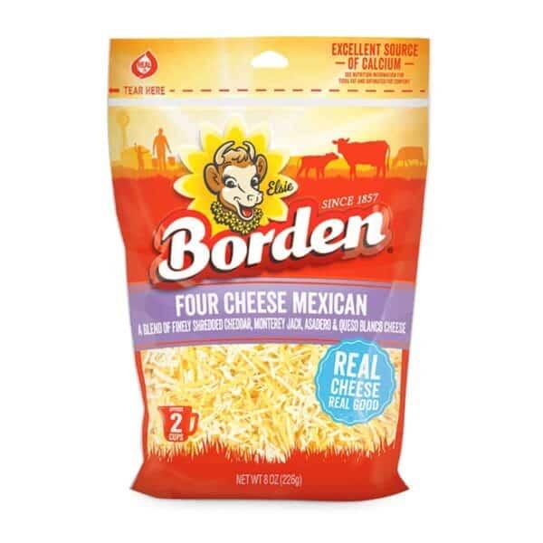 Queso Four Cheese Mexican, Borden 8 OZ