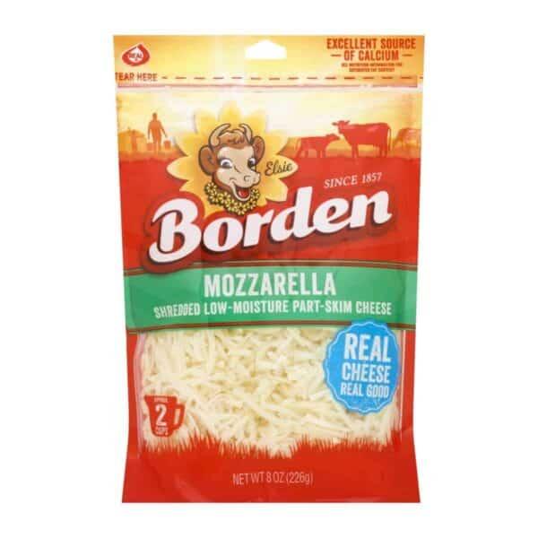 Queso Mozzarella Shredded, Borden, 8 OZ