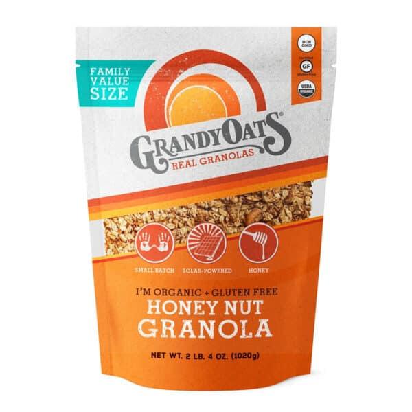 Honey Nut Granola, Family Value Size, GrandyOats 36 OZ