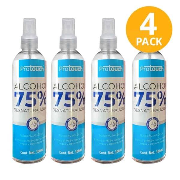 Alcohol Desinfectante Protouch 75%, Atomizador, 300 ml (Pack de 4)