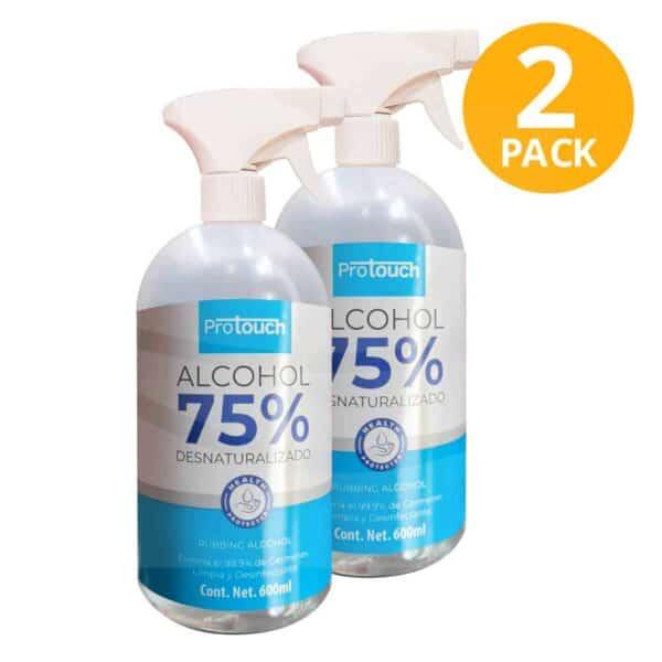Alcohol Desinfectante Protouch 75%, Atomizador, 600 ml (Pack de 2)