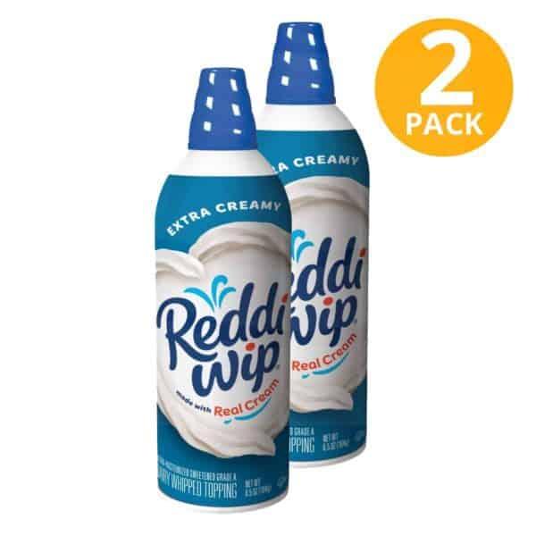 Reddi-Wip Extra Creamy, Whipped Cream, 6.5 OZ (Pack de 2)