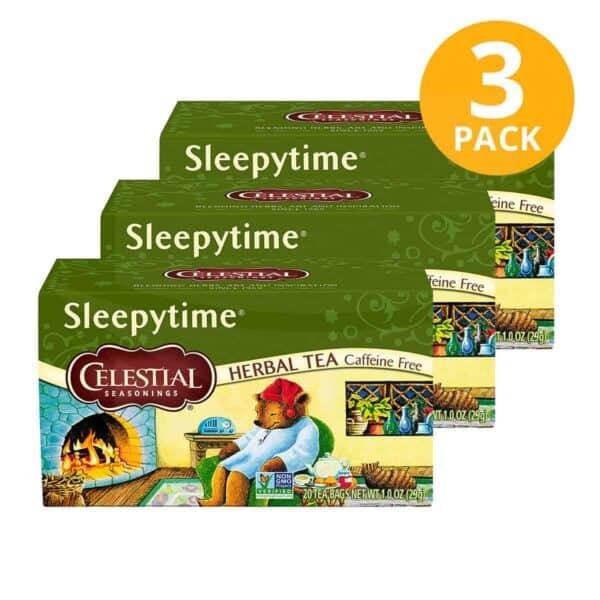 Celestial Seasonings, Sleepytime Herbal Tea, 60 Sobres (Pack de 3 x 20)