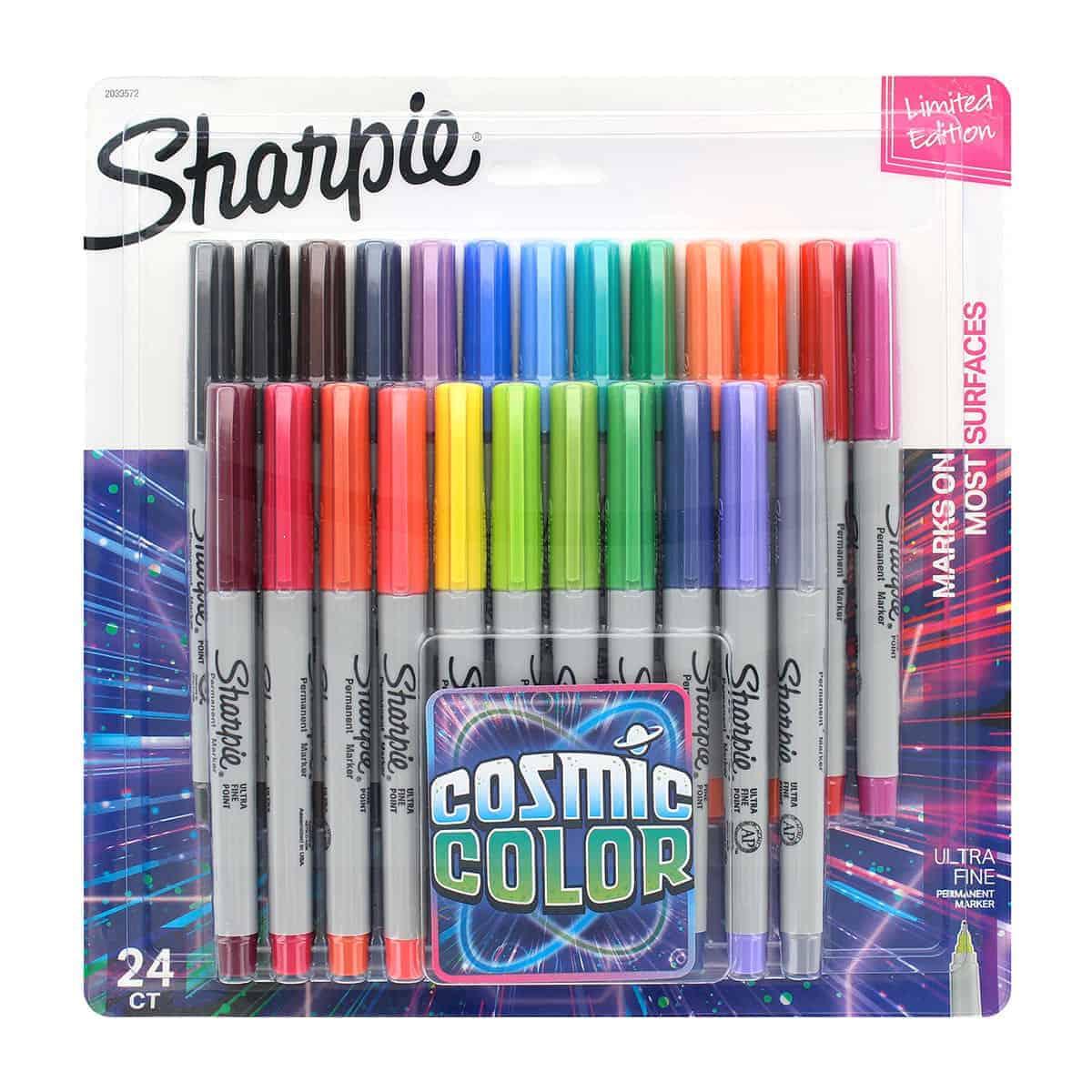Sharpie Cosmic Color, 24 Marcadores Permanentes Punta Ultra Fina