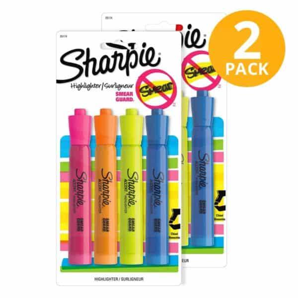 Sharpie, 8 Resaltadores Gruesos (Pack de 2 x 4)