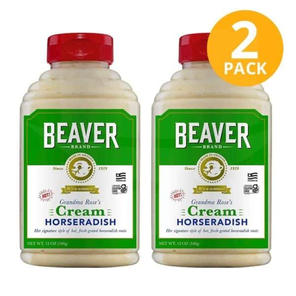 Cream Horseradish, Beaver Brand, 12 OZ (Pack de 2)
