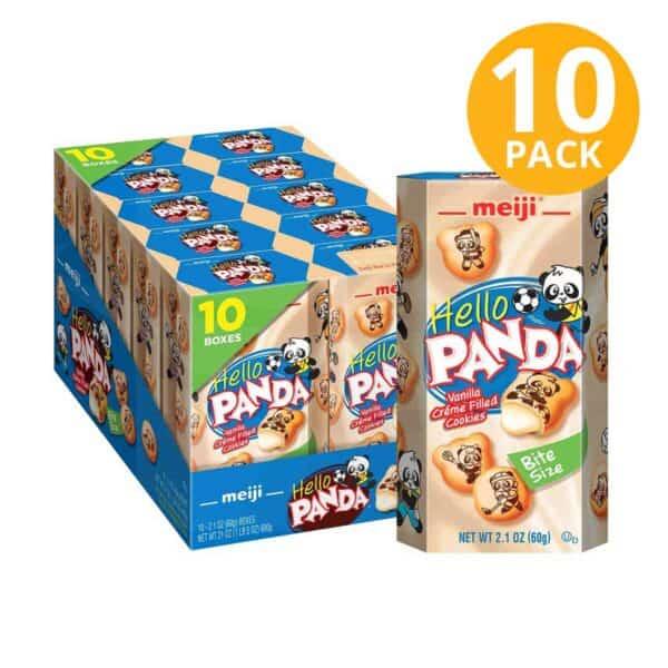 Hello Panda Vanilla Cookies, Meiji, 2.1 OZ (Pack de 10)