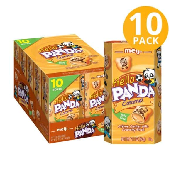 Hello Panda Caramel Cookies, Meiji, 2.1 OZ (Pack de 10)