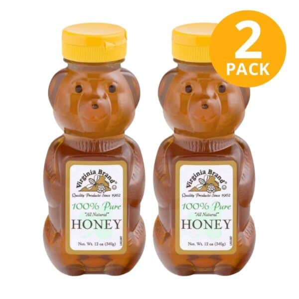 Miel 100% Pure Honey, Virginia Brand, 12 OZ (Pack de 2)