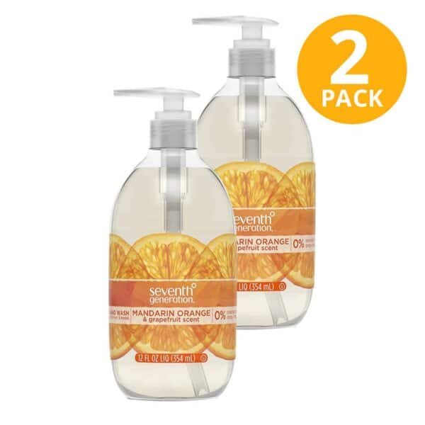 Seventh Generation, Jabón Líquido para Manos, Orange & Grapefruit, 12 OZ (Pack de 2)