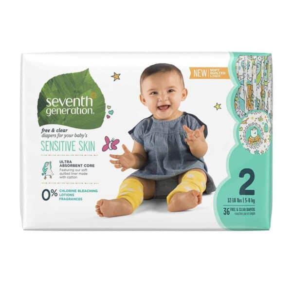Pañales Seventh Generation, Sensitive Skin, Stage 2, 36 Unidades