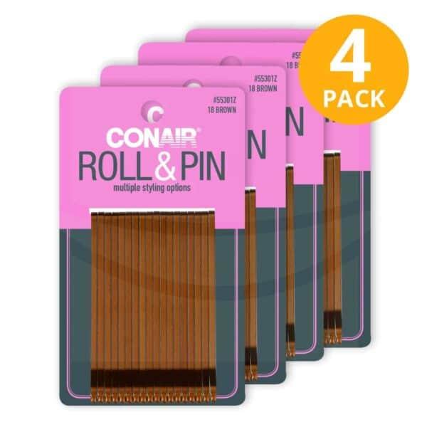 Conair, 72 Bronze Roller Pins (Pack de 4 x 18)