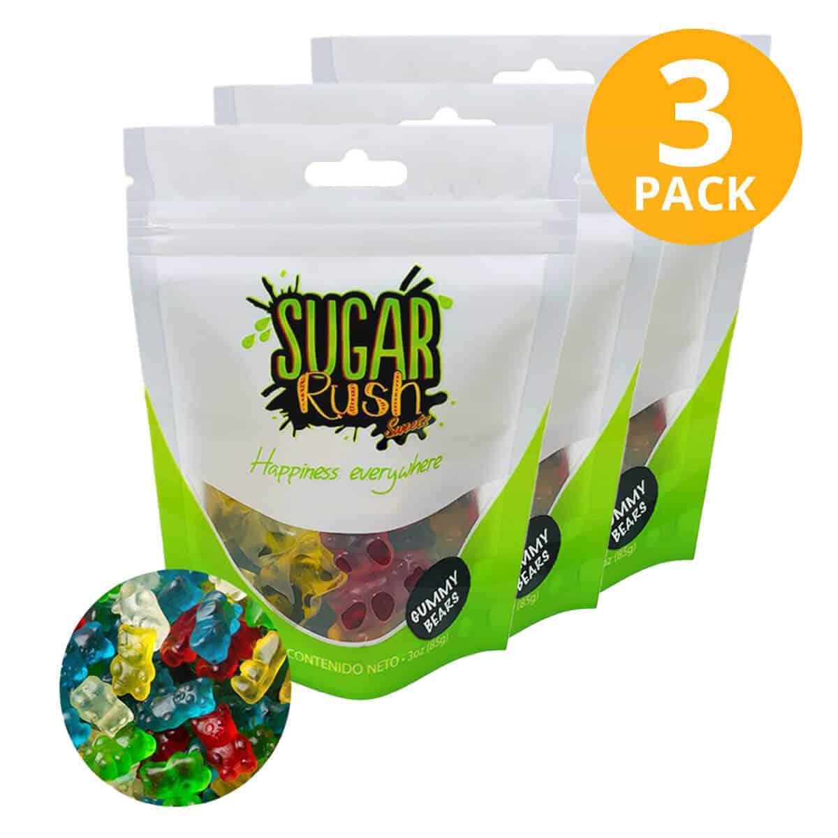 Sugar Rush, Gummy Bears, Gomitas 3 OZ (Pack de 3)