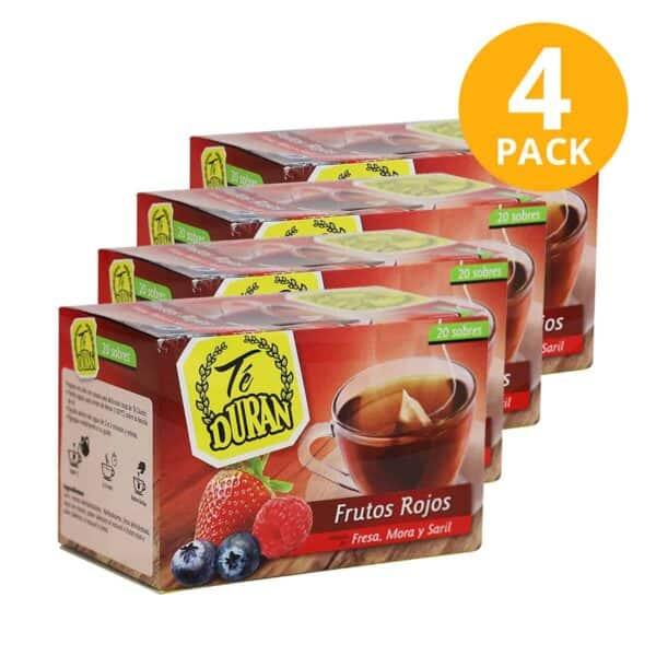 Té Durán Frutos Rojos, 80 Sobres (Pack de 4 x 20)
