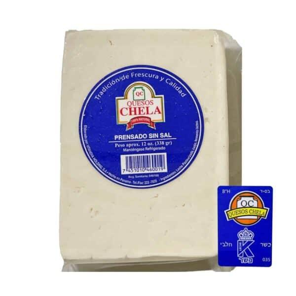 Queso Chela Prensado Sin Sal, Kosher 340 gr